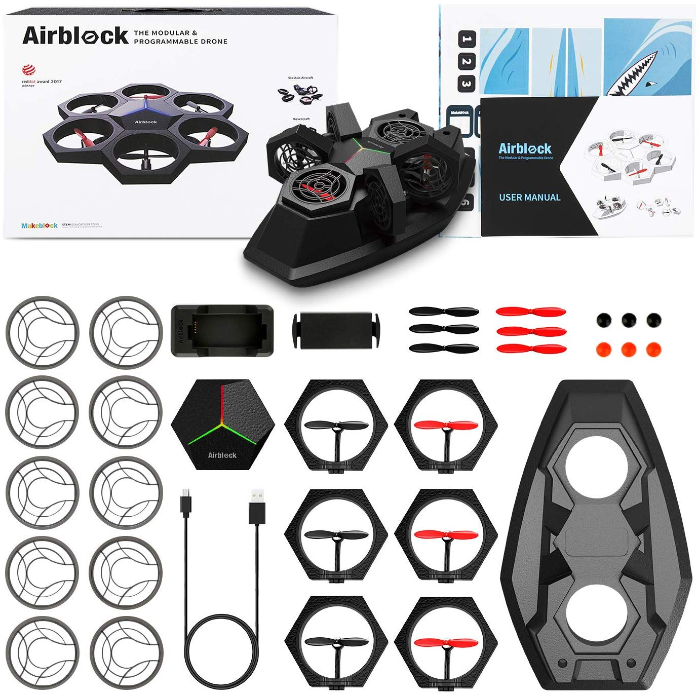 Programmable Drone, Hovercraft Robot