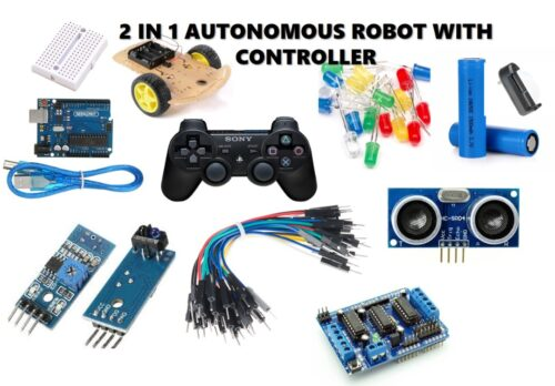 2-in-1 DIY Robot Kit with pad (line following and obstacle avoidance)