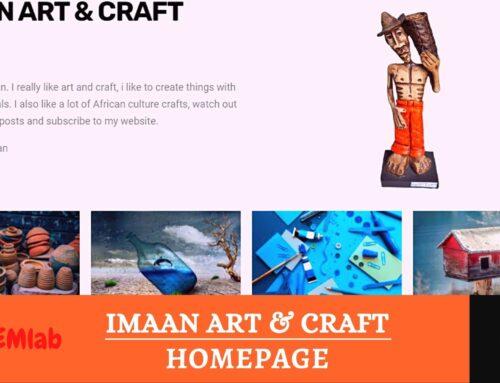 Imaan's Art & Craft Homepage